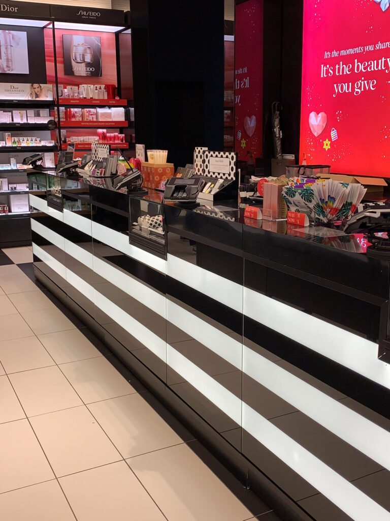 Check Out Counter and Floor Display