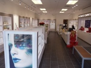 Cosmetic Store interior displays