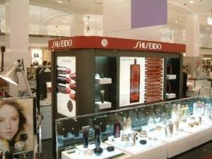 Shiseido retail fixtures