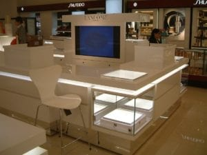 Lancome makeup displays