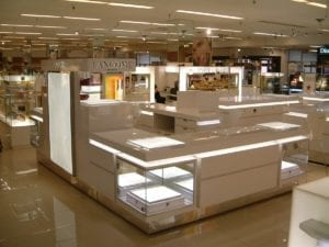 Lancome display fixtures alternative angle