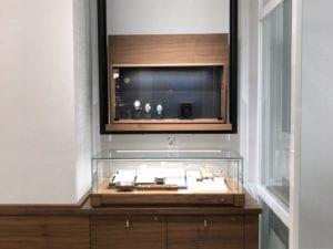 glass jewelry case
