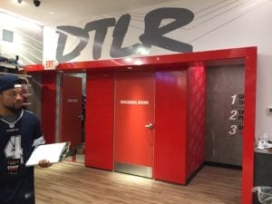 DTLR dressing room