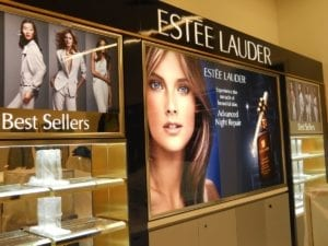Macy's Estee Lauder display