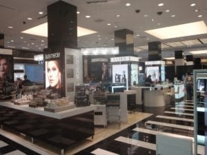 Bloomingdales makeup displays