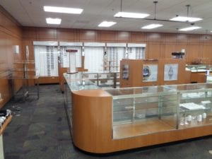 Navy Exchange display cases