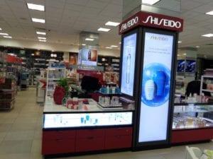 Shiseido Retail fixture alt angle 2