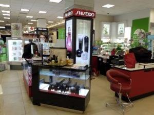 Shiseido retail fixture