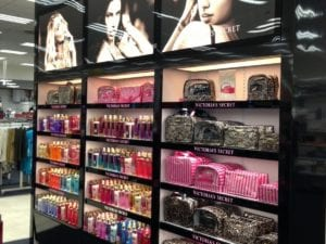 Victorias Secret display closeup