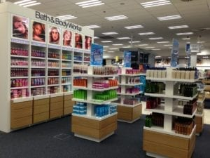 Bath & Body works display cases alt angle